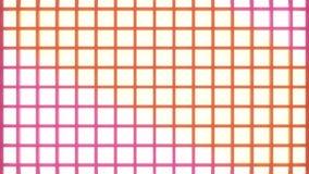 Abstrakcjonistyczny dyskoteki wireframe wzór z chodzeniem barwi vjloop royalty ilustracja