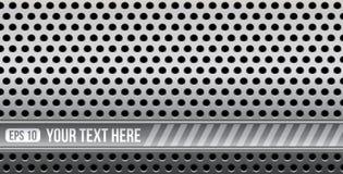 Abstrakcjonistyczny dziurkowaty metal z przestrzenią dla twój teksta royalty ilustracja