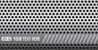 Abstrakcjonistyczny dziurkowaty metal z przestrzenią dla twój teksta ilustracja wektor