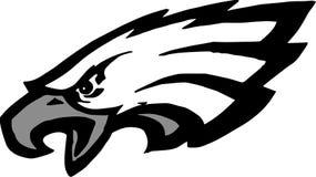 Abstrakcjonistyczny Eagle logo projekt na bielu obrazy royalty free