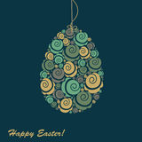 Abstrakcjonistyczny Easter jajko Obrazy Royalty Free
