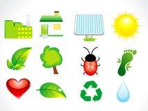 abstrakcjonistyczny eco ikony set Obraz Stock
