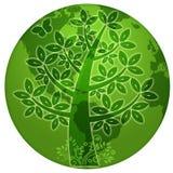 abstrakcjonistyczny eco kuli ziemskiej sylwetki drzewa świat Obraz Royalty Free