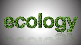 Abstrakcjonistyczny ekologia znak Fotografia Stock