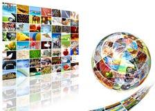 abstrakcjonistyczny ekran Zdjęcia Stock