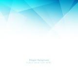 Abstrakcjonistyczny elegancki błękitny poligonalny tło ilustracja wektor