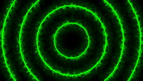 Abstrakcjonistyczny Energetyczny tunel cyfrowa tła green ilustracja wektor