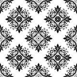 Abstrakcjonistyczny etniczny czarny i biały bezszwowy wzór ethnic royalty ilustracja