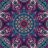 Abstrakcjonistyczny etniczny mandala kwiecisty deseniowy ornamentacyjny Obraz Royalty Free