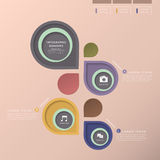 Abstrakcjonistyczny etykietki infographics Obraz Stock
