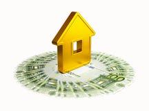 abstrakcjonistyczny euro złoty dom sto Fotografia Royalty Free