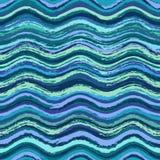 Abstrakcjonistyczny falisty bezszwowy wzór Obraz Royalty Free