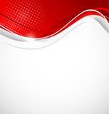 Abstrakcjonistyczny falisty tło w czerwonym kolorze Fotografia Royalty Free