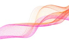 Abstrakcjonistyczny falowego ruchu koloru gładki wektor Wektorowa falista projekta kreskowego elementu grafika ilustracji