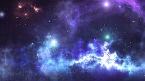 Abstrakcjonistyczny fantastyka naukowa wideo z przestrzenią, galaxies, mgławicy, gwiazdy royalty ilustracja