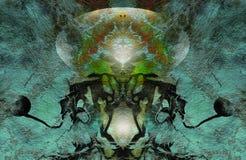 Abstrakcjonistyczny fantazi zieleni tło Fotografia Royalty Free