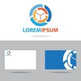 Abstrakcjonistyczny firma loga projekt Zdjęcia Stock