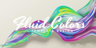 Abstrakcjonistyczny fluid barwi sztandar royalty ilustracja