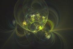 Abstrakcjonistyczny fractal ilustrujący tło odpłacający się tapetowym Zdjęcia Royalty Free
