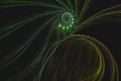 Abstrakcjonistyczny fractal ilustrujący tło odpłacający się tapetowym Obrazy Royalty Free