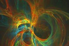 Abstrakcjonistyczny fractal ilustrujący tło odpłacający się tapetowym zdjęcie stock