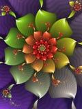 Abstrakcjonistyczny Fractal kwiat ilustracja wektor