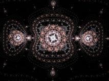 Abstrakcjonistyczny fractal maswerku ornament easterly Zdjęcia Stock
