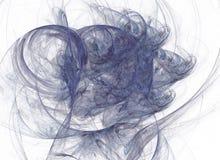 Abstrakcjonistyczny fractal na białym tle Cyfrowego kolaż Zdjęcia Stock