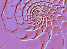 Abstrakcjonistyczny fractal skorupy kształt Zdjęcie Royalty Free