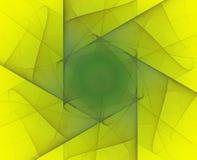 Abstrakcjonistyczny fractal sześciokąt ilustracja wektor