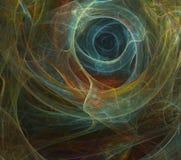 Abstrakcjonistyczny fractal tła czerń Obraz Stock