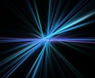 Abstrakcjonistyczny fractal tło z centrowaną promień teksturą Fotografia Stock
