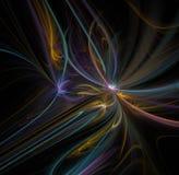 Abstrakcjonistyczny fractal tło z kwiatu lub fajerwerku teksturą Obrazy Stock
