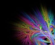 Abstrakcjonistyczny fractal tło z kwiatu lub gałąź teksturą royalty ilustracja