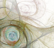 Abstrakcjonistyczny fractal tła biel Fotografia Stock