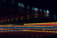 Abstrakcjonistyczny fractal tło, 3D-illustration Fotografia Royalty Free