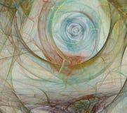 Abstrakcjonistyczny fractal tła biel Obrazy Stock