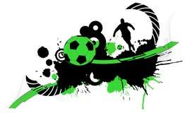 Abstrakcjonistyczny futbolowy tło Obrazy Royalty Free