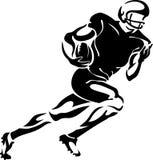 Abstrakcjonistyczny futbolu amerykańskiego gracza bieg ilustracja wektor