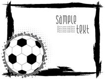 abstrakcjonistyczny futbolu ramy grunge Fotografia Stock