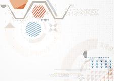Abstrakcjonistyczny futurystyczny biznesowy tło Obraz Royalty Free