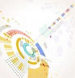 Abstrakcjonistyczny futurystyczny biznesowy tło Obrazy Royalty Free