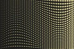 Abstrakcjonistyczny futurystyczny halftone wzór Komiczny tło Kropkowany tło z okręgami, kropki, wskazuje wielką skala Czerń, żółt Fotografia Stock