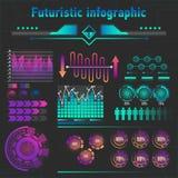 Abstrakcjonistyczny futurystyczny infographics ilustracji