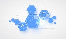 Abstrakcjonistyczny futurystyczny informatyka biznesu tło ilustracji