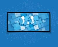 Abstrakcjonistyczny futurystyczny informatyka biznesu tło Obrazy Royalty Free