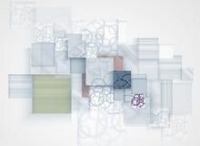 Abstrakcjonistyczny futurystyczny informatyka biznesu tło Obraz Stock