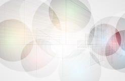 Abstrakcjonistyczny futurystyczny informatyka biznesu tło Obrazy Stock