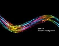 Abstrakcjonistyczny futurystyczny kolorowy fala tło ilustracja wektor