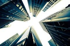 Abstrakcjonistyczny futurystyczny pejzaż miejski hong kong Fotografia Stock